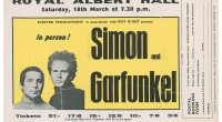 Simon &amp; Garfunkel played the Royal Albert Hall in London on March 18, 1967 between the release of Parsley, Sage, Rosemary and Thyme and Bookends. Thanks to paulodoming for the...
